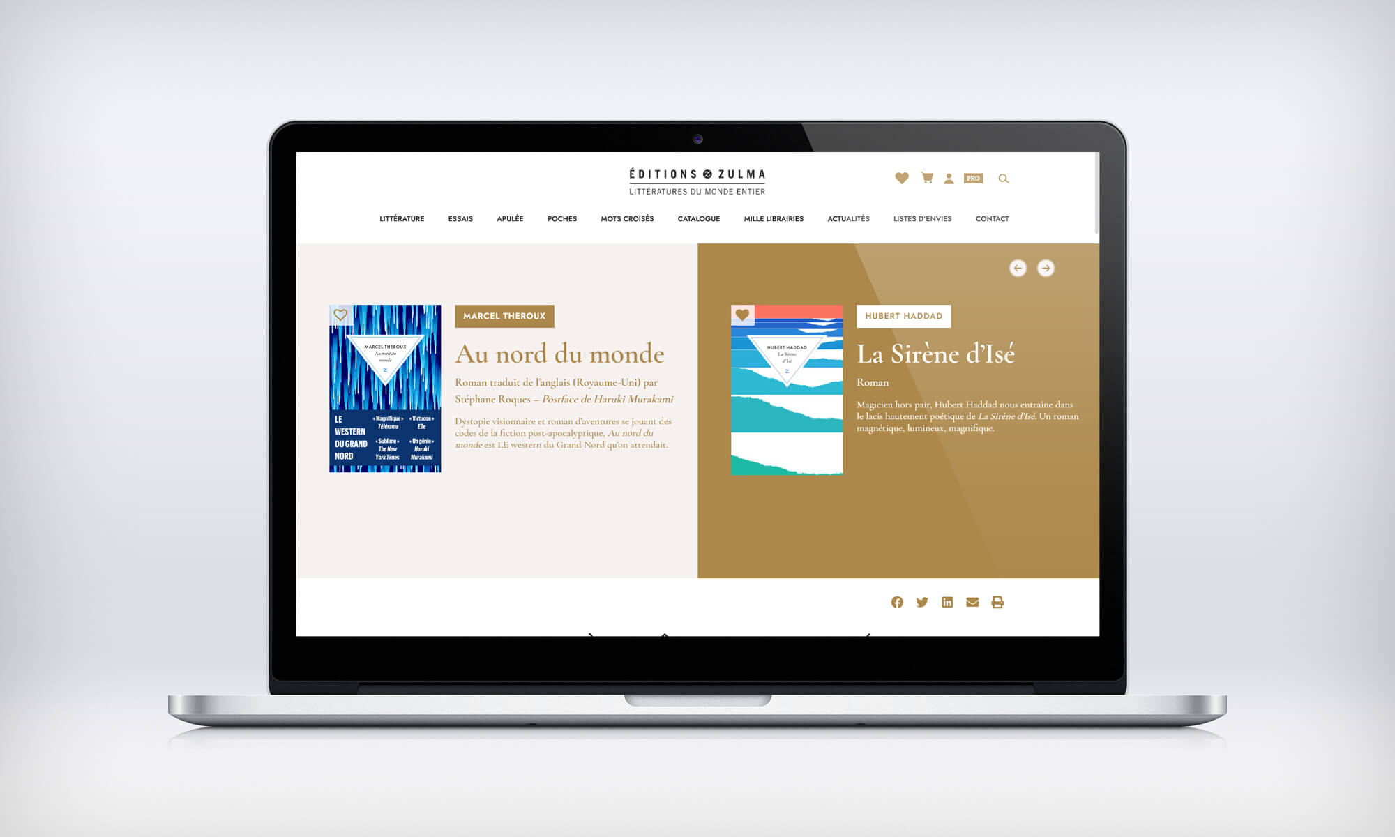 Zulma page accueil